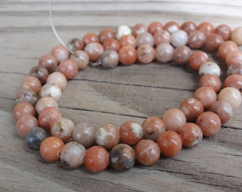 Pink Lepidolite Beads 6mm Round Smooth Full Strand 16 inch