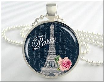 Paris Travel Pendant Charm Jewelry Paris France Eiffel Tower Necklace (076RS)
