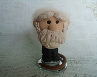 Charles Darwin Figurine Art Doll OOAK Polymer Clay Doll Miniature Scientist Evolution Geek Geekery Nerd Gift