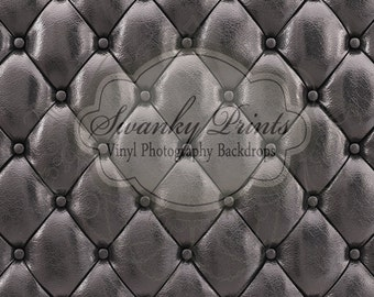 NEW ITEM 2ft x 2ft Black Tufted Leather Cushion Vinyl Photography Backdrop