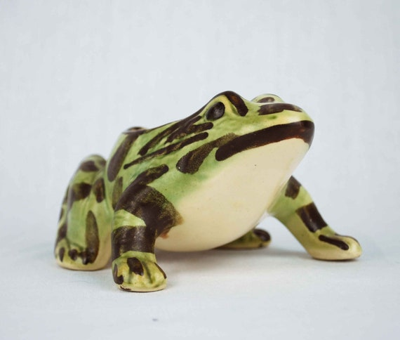 1940s Brush McCoy Frog Planter, Vintage Garden Figurine Collectible