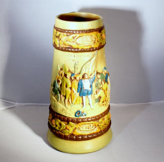 Vintage Beer Mug - Christopher Columbus Beer Stein
