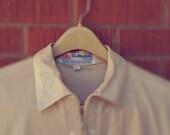 Vintage Mens Polo Shirt Tajmahal Diamond Tan Zipper Extra Large