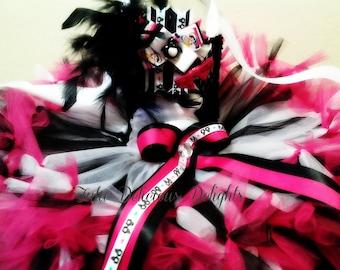 Penguin Tutu Dress,  Pink Black And White Tutu Dress, Penguin Kids Costume, Penguin Party, Kids Birthday Tutus, Kids Photo Props