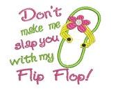 Flip Flop Applique, Embroidery Designs, Summer Embroidery Design (501) Instant Download