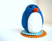 Needle Felted Blue Penguin-Natural Toy