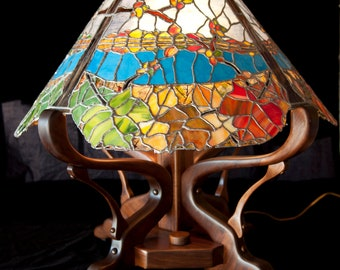 New England Fall lamp, one of a kind
