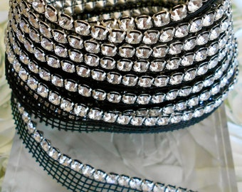 Clear Rhinestone Trim