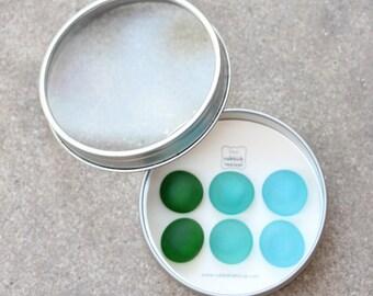 Glass Gem Magnets -  Ocean Deep - FREE SHIPPING