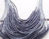 Black Seed Bead Necklace by Rachel Marie Designs
