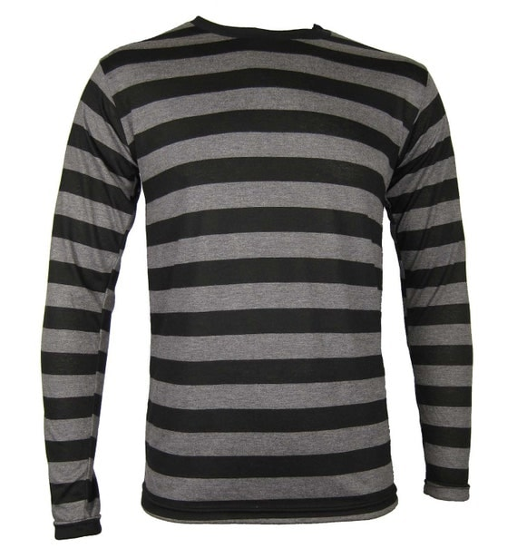 Grey And Black Striped Long Sleeve Shirt | Is Shirt