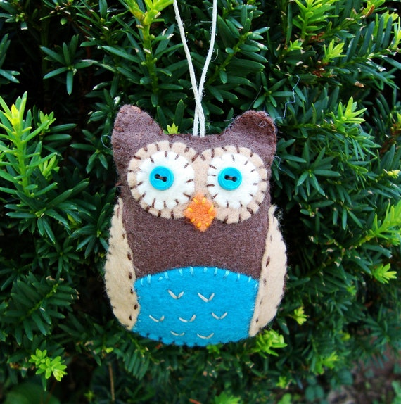 Felt Owl - Owl Decoration - Owl Ornament - Bowl Filler - Party Favor
