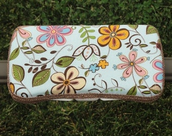 Baby Wipes Case, Travel Wipes Case, Wipes Case, Boutique Blue Floral Print