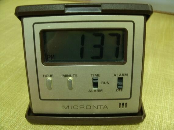 LCD Folding Travel Alarm Clock by MICRONTA