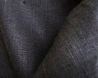 "Linen Curtain Panel Black 52""x84"" ECO"
