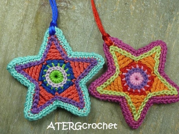 Christmas star twin set by ATERGcrochet