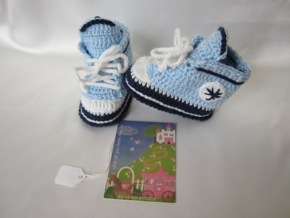 Crochet baby booties.  Baby boy booties sneakers. Crochet baby boy booties. Crocheted baby boy sneakers. READY TO SHIP