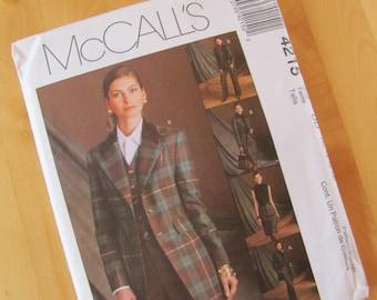 Uncut McCalls Sewing Pattern 4215 - Misses Jacket, Vest, Pants and Skirt - Size 12-18