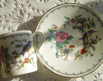 PEMBROKE - Demitasse, Demi-Cup & Saucer - Tea Party - Aynsley China - Longton, Stoke-on-Trent, Staffordshire, England