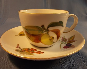 Royal Worcester Evesham Cup and Saucer