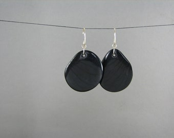 Black Tagua Earrings ECO VALENTINES DAY jewelry for women