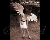 "RESERVED - ""Halcyon"" - Handmade White Angel Wings Costume - 6.5ft span"
