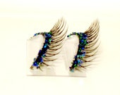 Natural Blue & Green Mix Glitter Faux Lashes