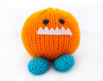Hand Knit Amigurumi Monster Chunk