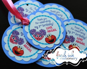 Abby and Elmo Personalized Tags