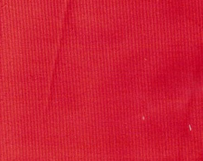 "Corduroy Red Fine/Baby wale corduroy  by Fabric Finders 54"" wide"