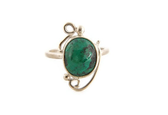 Chrysocolla-Eilat Gemstone Sterling Silver Artisan Ring, fall jewelry, fall gifts, romantic gift ideas, gifts for her, gifts for him