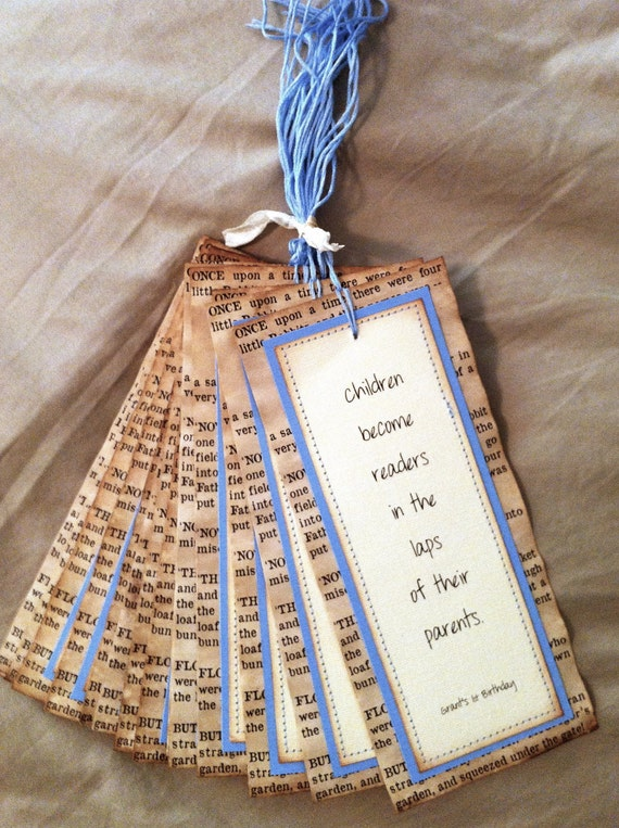 Items similar to Vintage Bookmarks Party Favors Baby