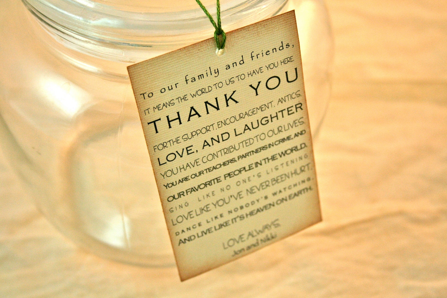 Wedding Return Gift Quotes : Weddings Favors Paper Goods Vintage Favor Tags Thank