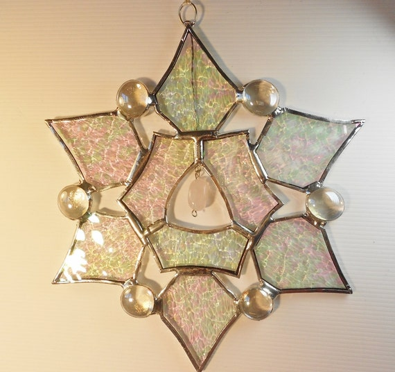 Snowflake-star. Holiday ornament. Suncatcher.