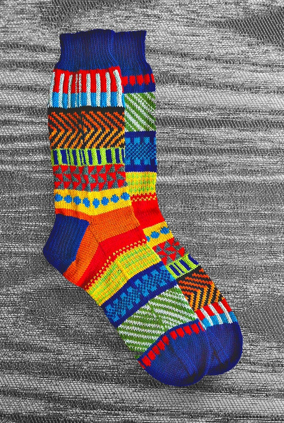 Socks, Hand Knit Unique Reversed Socks, Men Socks, Women Socks,  Socks, Boho Socks, Hipster Socks, Icelandic Original Design - MADE TO ORDER