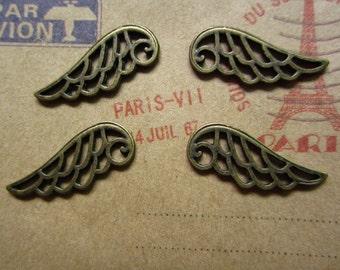 50pcs 23x8mm antique bronze wing flyer charms pendant R24122