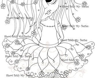 INSTANT DOWNLOAD Digital Digi Stamps Big Eye Big Head Dolls Messy Bessy IMG851 My Besties By Sherri Baldy