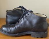 Reserved  Vintage Joseph Fenestrier Black Calf Skin High Fashion Men's Ankle Boots/Rocker/Grunge/Steampunk/Hipster-Size 8.5 Made in France