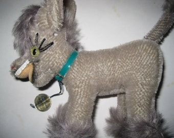 Vintage Mohair Laughing Donkey from ANKER Germany -  MUFTI with Tag