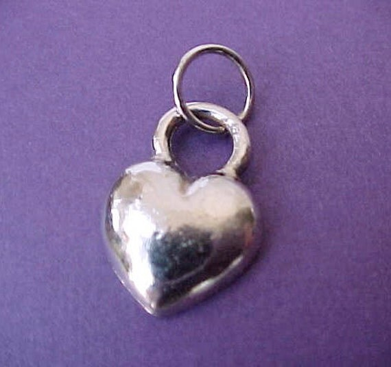 Pretty Little French Heart Charm or Pendant by Zoe Coste