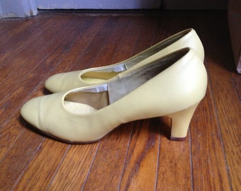 Light Yellow Pumps