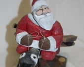 Hand Carved Wood Canada Santa