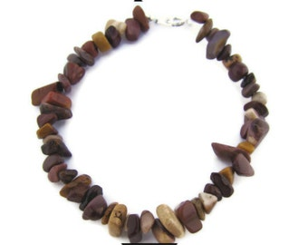 Bracelet, Brown and Beige, Mookiate chips, Brown, Yellow, Gemstone, For her, Casual, Boho, Resort