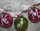 Glittery personlized Ornaments