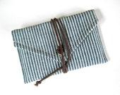Blue Stripe Wrap Passport Wallet