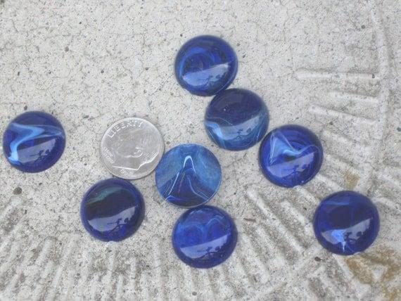 Vintage Faux Lapis Blue  Lucite Acrylic Flatback  Cabochon