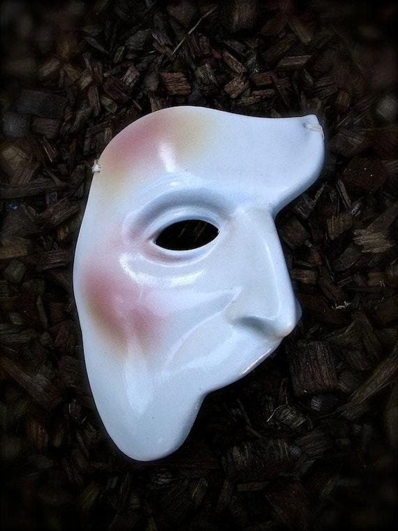 Phantom Of The Opera Ceramic Mask Halloween Decor Face Mask
