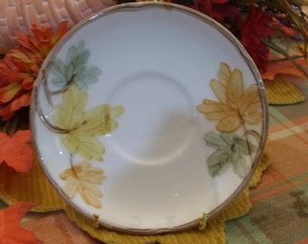 1 Saucer, Franciscan Pottery, October Pattern