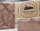 Orchid Thief Vegan Soap - Palm Oil Free Soap - Vanilla & Sandalwood Scent - Handmade Soap with Shea Butter