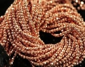 Rose Gold Pyrite Faceted Rondelles, 3.5 - 4 mm, 14 inches GM2704FR/4